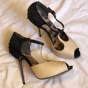 Sam Edelman Scarlett Sz 8 shoes heels t-strap peep